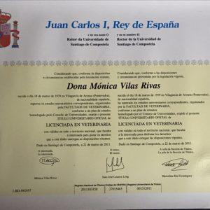Licenciada en Veterinaria